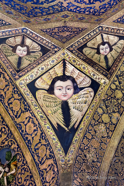 """Armenian cherub motif surrounded by folded wings, Vank Cathedral, Isfahan, Iran<br /> <br /> 8/05/15  <a href=""""http://www.allenfotowild.com"""">http://www.allenfotowild.com</a>"""