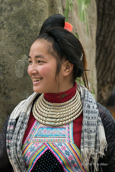 """Basha Miao woman in traditional attire and hairstyle<br /> <br /> Basha village, Guizhou Province, China<br /> <br /> For those who are interested, other photos of people from this ethnic minority village can be seen here: <a href=""""http://goo.gl/jz3IsH"""">http://goo.gl/jz3IsH</a><br /> <br /> 05/05/15  <a href=""""http://www.allenfotowild.com"""">http://www.allenfotowild.com</a>"""