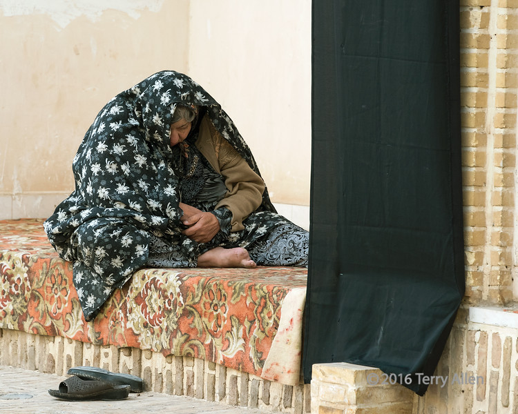 """Woman in an alcove<br /> <br /> Imamzadeh-ye-Sultan Mir Ahmad mausoleum, Kashan, Iran<br /> <br /> Other shots from Kashan can be seen here: <a href=""""http://goo.gl/VBnuxR"""">http://goo.gl/VBnuxR</a><br /> <br /> 16/05/15  <a href=""""http://www.allenfotowild.com"""">http://www.allenfotowild.com</a>"""