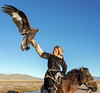 "Showing off his eagle<br /> <br /> Mounted Kazakh eagle hunter, Western Mongolia<br /> <br /> Other photos of the eagle hunters, their horses and their birds can be seen here: <a href=""http://goo.gl/mOXr6Y"">http://goo.gl/mOXr6Y</a><br /> <br /> 29/03/15  <a href=""http://www.allenfotowild.com"">http://www.allenfotowild.com</a>"