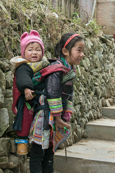 "Small girl, large brother<br /> <br /> Small Basha Miao girl with her big young brother on her back, Basha Miao Village, Guizhou Province, China<br /> <br /> Other photos of Basha Miao people can be seen here: <a href=""http://goo.gl/eE1eYZ"">http://goo.gl/eE1eYZ</a><br /> <br /> 1/05/15  <a href=""http://www.allenfotowild.com"">http://www.allenfotowild.com</a>"