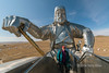 "Giant equestrian statue of Genghis Khan<br /> <br /> This giant steel statue of Genghis Khan (Chinngis Khaan) is built on the steppes near Ulaan Baatar.  It is 40 meters tall and dominates the horizon above the Tuul River.  It was erected at the site where legend has it Genghis Khan, at the age of 15, found a golden whip that inspired him to go on and conquer much of the known world, which after his death became the largest contiguous empire in history. Taken with an ultra wide lens (12 mm).<br /> <br /> Other photos from around the monument, including the whole statue, the trained raptors and the bronze mounted warrior statues, can be seen here: <a href=""http://goo.gl/QK1CR8"">http://goo.gl/QK1CR8</a><br /> <br /> 11/02/15  <a href=""http://www.allenfotowild.com"">http://www.allenfotowild.com</a>"