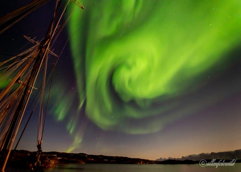 Northern lights over Fonfjord