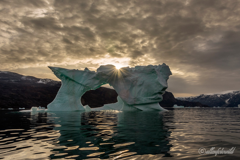 Ice arch with sunburst