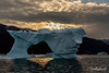 Ice arch at sunset - Terry Allen