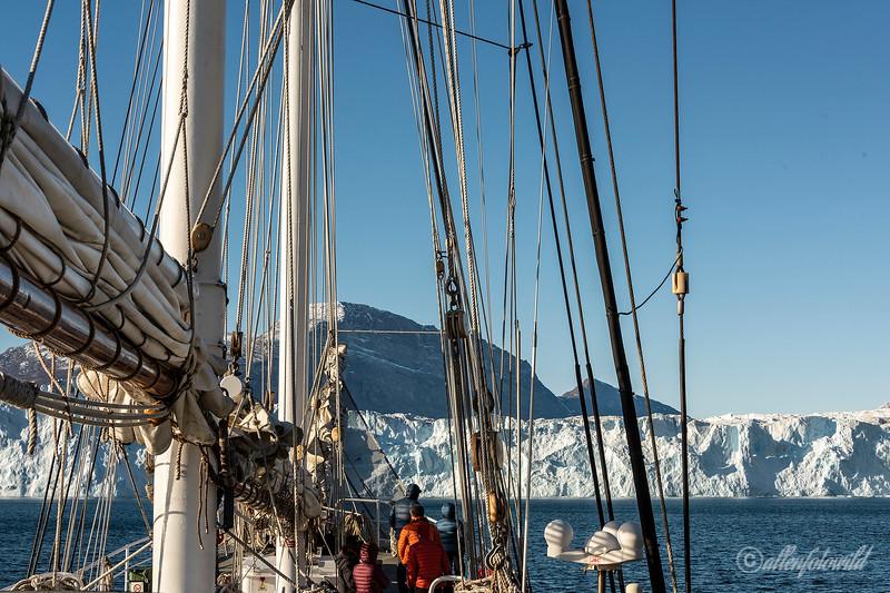 Exploring Rolige Brae glacier