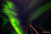 Aurora Borealis and ship's rigging