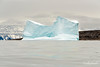 Iceberg with blue reflections