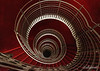 Spiral in red and white