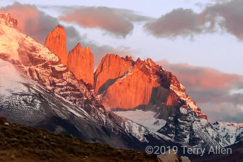Daybreak at Torres del Paine