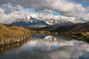 Cordillera Paine with reflections