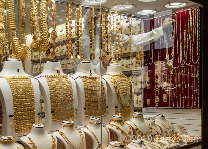 In the gold souk