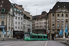 """Tram starting to cross the old Mittlere Brucke, Basel, Switzerland<br /> <br /> Other photos of Old Basel can be seen here: <a href=""""http://goo.gl/oXk4gQ"""">http://goo.gl/oXk4gQ</a><br /> <br /> 07/10/13  <a href=""""http://www.allenfotowild.com"""">http://www.allenfotowild.com</a>"""