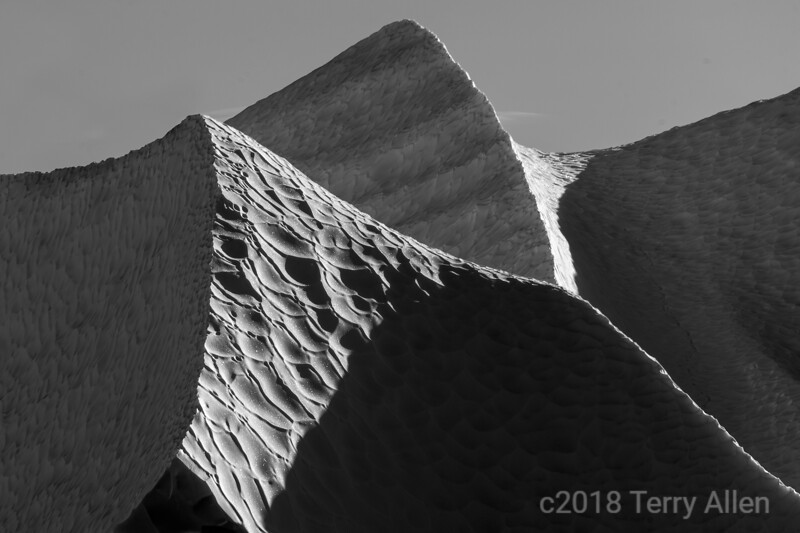 Ice triangles in black and white