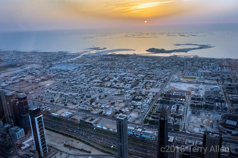 Sunset over the Arabian Gulf