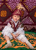 Girl in a yurt