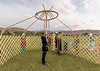 How to raise a yurt
