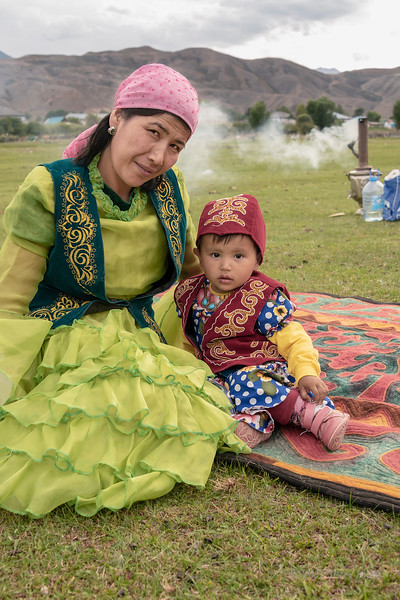 Kazakh mother and child