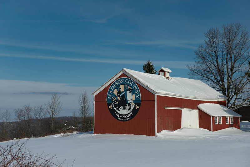 December 31 - One of the Madison County, NY Bicentennial barns.  There is a bicentennial barn in each of Madison County Towns plus the City of Oneida.