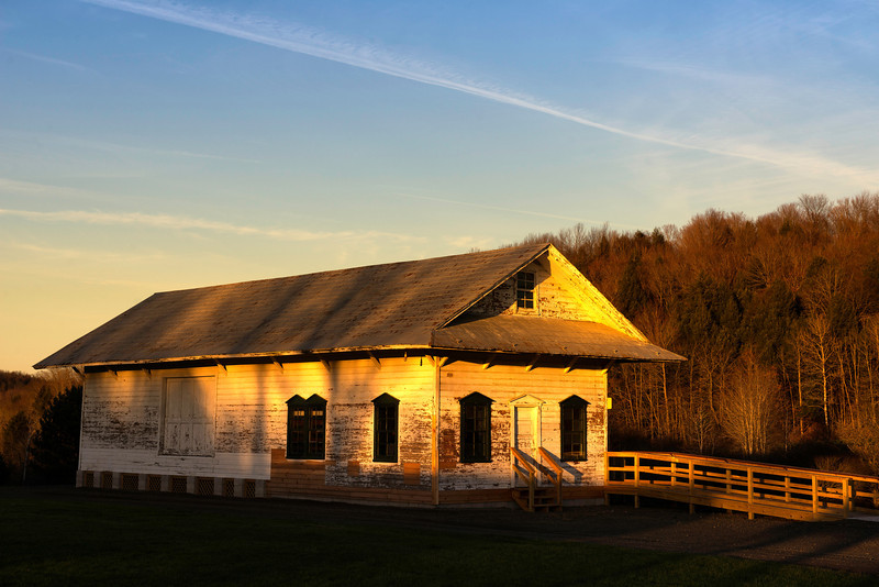 November 6 - Norton Park, Town of Columbus. The former South Edmeston Train Station donated to the Town by Chobani.