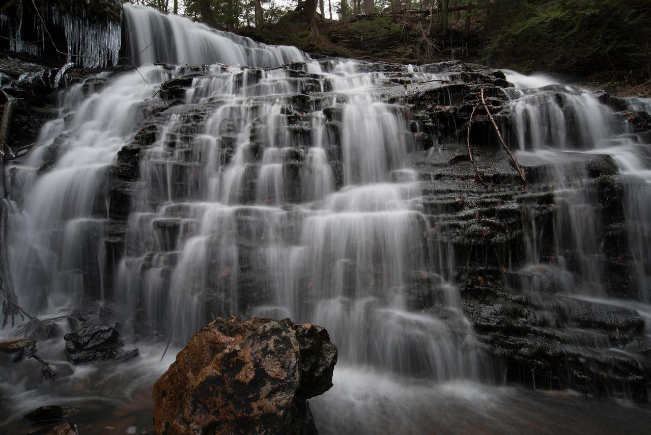 November 9 - Mohawk Falls at Ricketts Glenn.