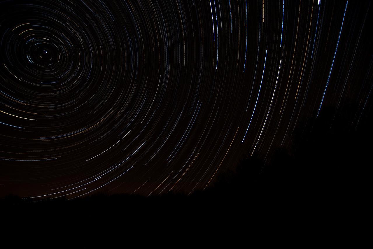 November 16 - Star Trail taken from my yard.