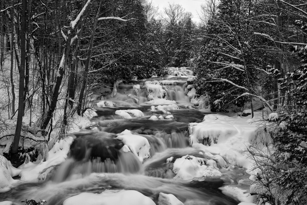 December 27 - Stockbridge Falls outside of Munsville, NY.  Can say cold!