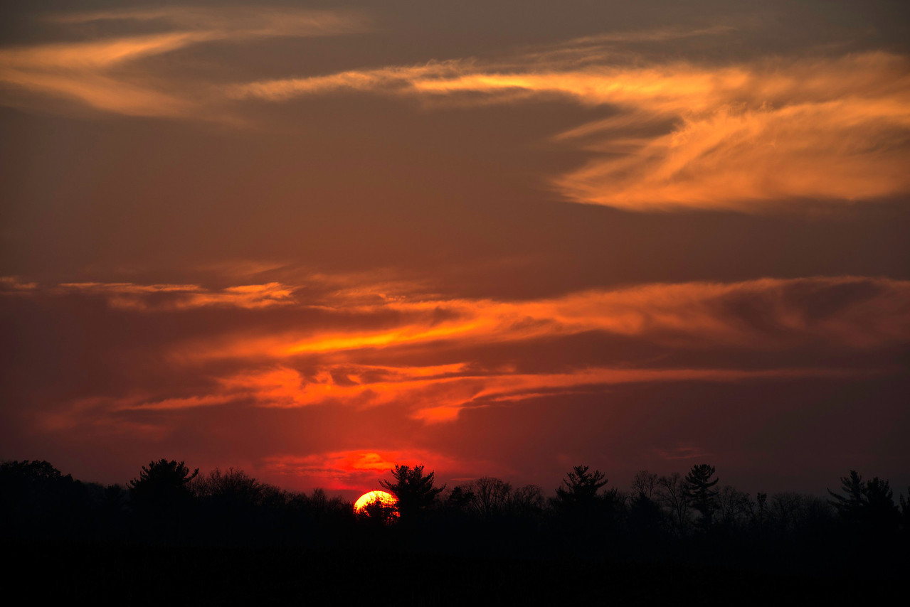 November 10 - Sunset near Lewisburg, PA