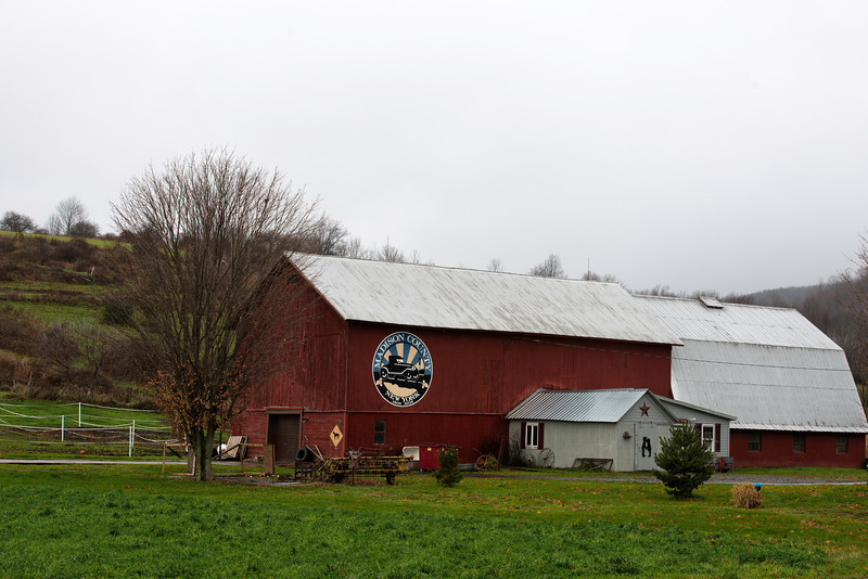 November 2  Scott Hagan (barnartist.com) has more than one bicentennial barn project.  He started with painting a bicentennial barn in each of Ohio's eighty some odd counties.  His project in central New York State was to paint a barn bicentennial logo on one barn in each of Madison County's Towns and the City of Oneida.  I've photographed about a dozen of his Ohio County barns and now I'll do all of his Madison County Barns.  I've photographed many of them before but now it's time to do all.  This is in the Town of Brookfield along NYS Rt. 8.