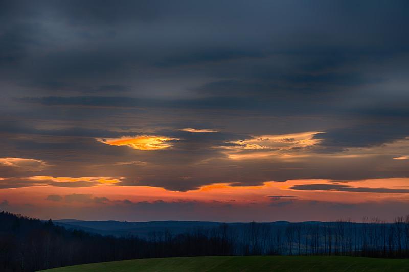November 12 - Sunset tonight from Granville Hill Road, Sherburne.