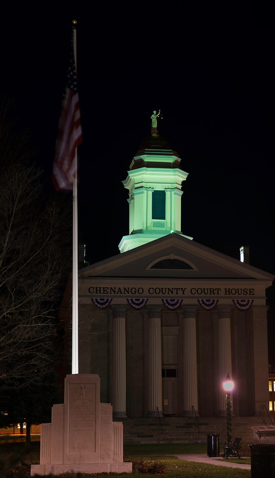 November 5 - Chenango County Court House in the middle of Norwich, NY.