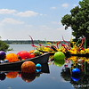 """FLOAT BOAT and CARNIVAL BOAT"" (with Niijima Floats, Reeds, and Marlins) by Dale Chihuly"