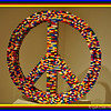 """LARGE PEACE SYMBOL"" (made with Legos) by Nathan Sawaya"