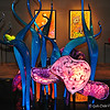 """COBALT MARLINS and TRUMPET FLOWER FIORI"" by Dale Chihuly (2009)"