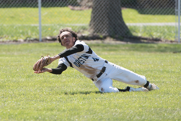 #4214: Greensburg CC had a rally going in the 3rd inning with two outs and the bases loaded and up 6-4 when left fielder GJHS #4  Jairee Johnson ran down and made a diving catch to end the inning.