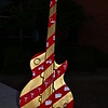 """TIE 'N THE DELTA TOGETHER"" Guitar by artists Catherine and Vincent Joseph"