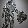 """MOLECULE MAN WITH BRIEFCASE"" (1983) by Jonathan Borofsky (American, b. 1942)"
