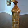 """BRICK SELF-PORTRAIT"" by Robert Arneson (American, 1930-1992)"