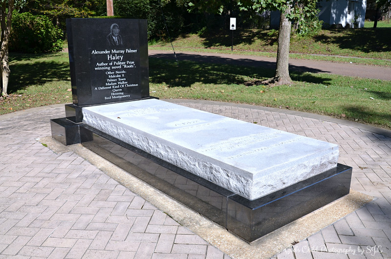 """ALEX HALEY'S BURIAL SITE"""