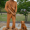 "WOODEN PROTOTYPES OF ""HOLT COLLIER and HIS DOG"" by Dayton Scoggins"