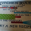 """KITCHEN RULES"" RUG"
