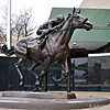 """BRONZE STATUE OF TRIPLE CROWN WINNER 'AMERICAN PHAROAH' """