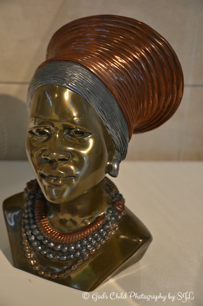 """""""BUST OF AFRICAN WOMAN IN TRADITIONAL HEADDRESS"""""""