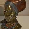 """BUST OF AFRICAN WOMAN IN TRADITIONAL HEADDRESS"""