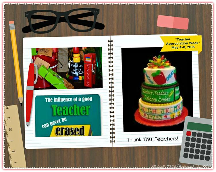 """TEACHER APPRECIATION WEEK"" 2015"