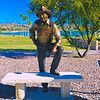 """STATUE OF RONALD REAGAN"" by Mark Lundeen"
