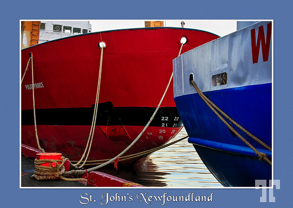 Boats in St. John's Harbor, Newfoundland