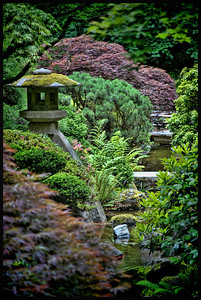 """J"" = Japanese Gardens, Portland, OR The beautiful Strolling Gardens, one of five gardens at the Portland Japanese Gardens."