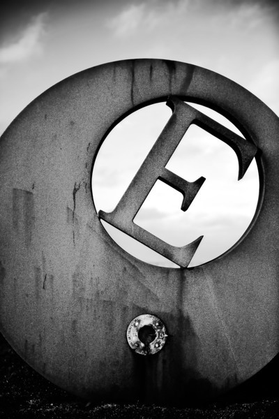 'E'<br /> Photo date: 21st February 2014<br /> Post date: 23rd February 2014<br /> <br /> This is a sculpture denoting the most easterly part of mainland Ireland at Burr Point in County Down.