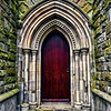 19th century arched church doorway<br /> Strean Presbyterian Church<br /> Newtownards<br /> County Down<br /> Post Date: 9th May 2014